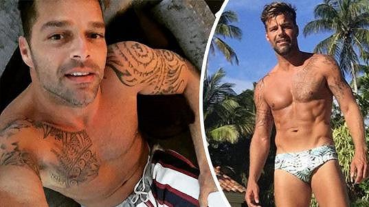 Ricky Martin se pochlubil vypracovanou postavou.