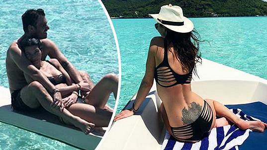 Monika Koblížková relaxuje s Leošem Marešem na Bora Bora