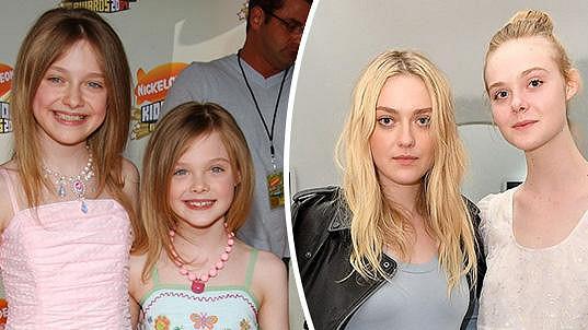 Sestry v roce 2007 a 2016