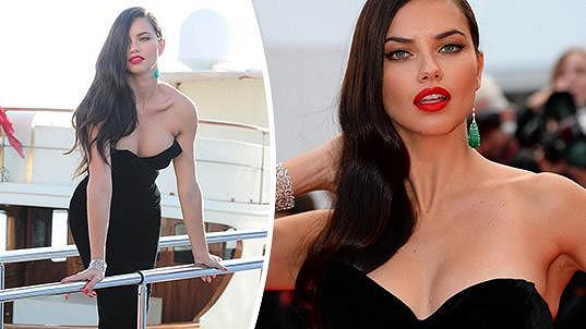 Modelka Adriana Lima patřila k ozdobám Cannes.