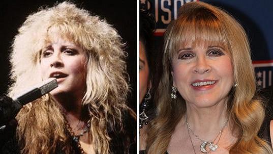 Tyto fotky Stevie Nicks od sebe dělí 30 let.