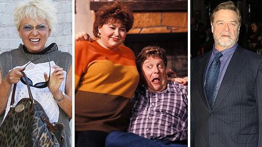 Roseanne Barr i John Goodman jsou k nepoznání.