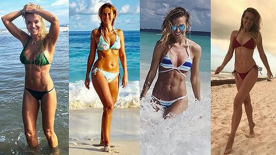 Tyhle dámy už se letos stihly pochlubit fotkami v plavkách...