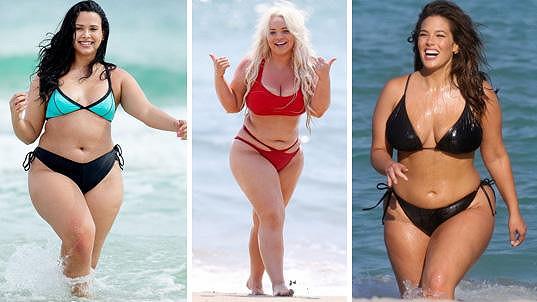 Natalia Lorenzo, Trisha Paytas i Ashley Graham (zleva) berou kila navíc jako přednost.