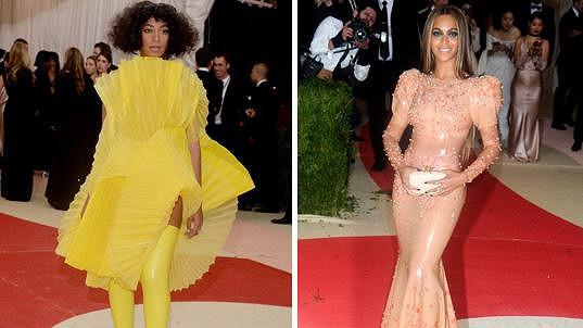 Beyoncé i Solange byly nepřehlédnutelné.