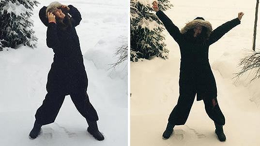 Lucie Vondráčková si užívá kanadskou zimu.