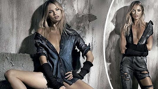 Candice Swanepoel září ve zbrusu nové kolekci oblečení.