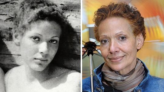 Venuše Samešová, která je vystudovanou výtvarnicí a bývala modelkou. Tyhle dvě fotky dělí 40 let.