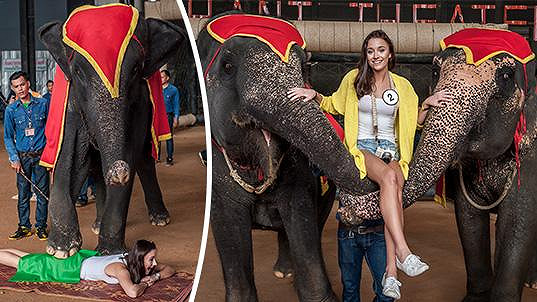 Lucie Dušková okouzlila thajské slony.