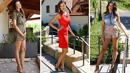 Letní Iva Kubelková na tři způsoby