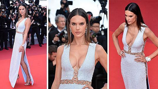 Alessandra Ambrosio zářila v Cannes.
