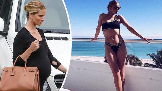 Britská kráska Rosie Huntington-Whiteley (30) má půl roku po porodu syna Jacka zpět svou sexy postavu.