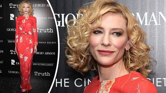 Cate Blanchett byla ozdobou premiéry filmu Truth.