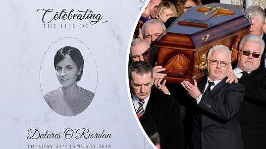 Poslední rozloučení se slavnou zpěvačkou proběhlo v jejím rodném Irsku.