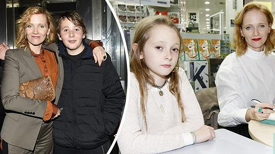 Aňa Geislerová s dětmi Brunem a Stellou