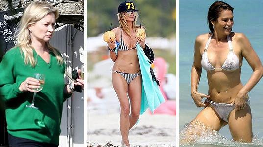 Kate popíjí, Heidi a Cindy se vystavují na pláži.