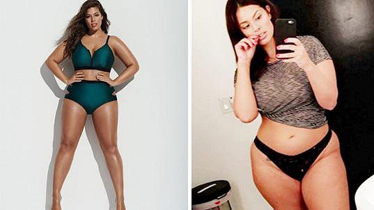 Ashley Graham v kampani a v reálu