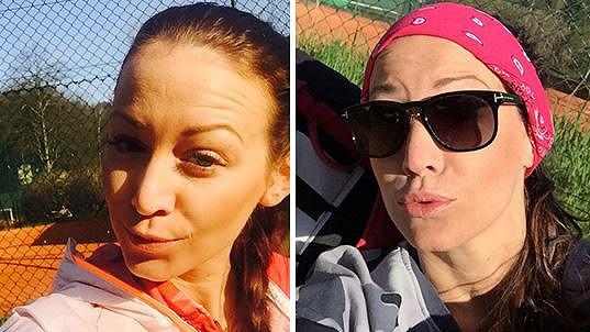 Agáta Prachařová se rozhodla naučit hrát tenis.
