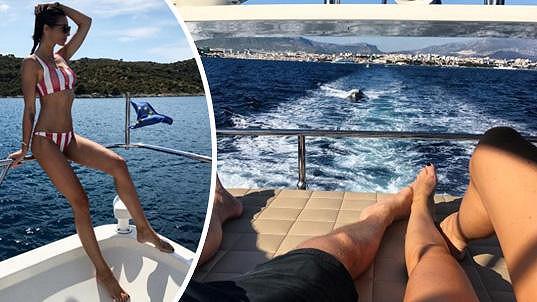 Monika Koblížková relaxuje s Leošem Marešem na dovolené v Chorvatsku.