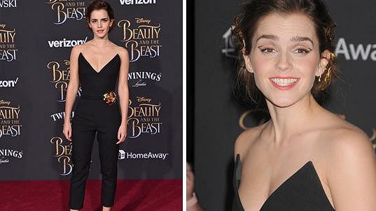 Emma Watson na premiéře filmu Kráska a zvíře v LA