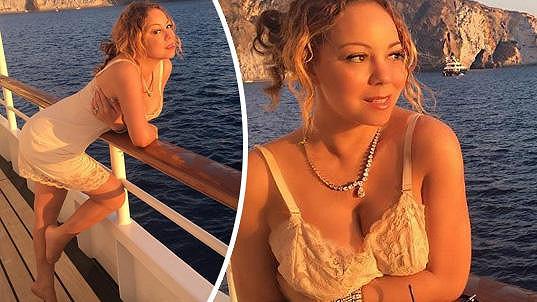 Mariah si užívá dovolenou na jachtě.