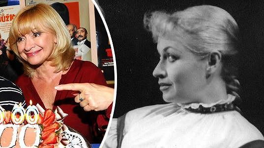 Jana Paulová a její maminka Eva Šenková, která byla kdysi operetní subretou v Karlíně.