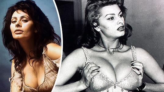 Sophia Loren a její nepřéhlednutelné ženské zbraně.