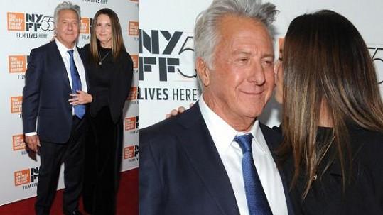 Dustin Hoffman a jeho žena Lisa na filmovém festivalu v New Yorku