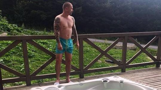 Tomáš Řepka a část jeho tetování