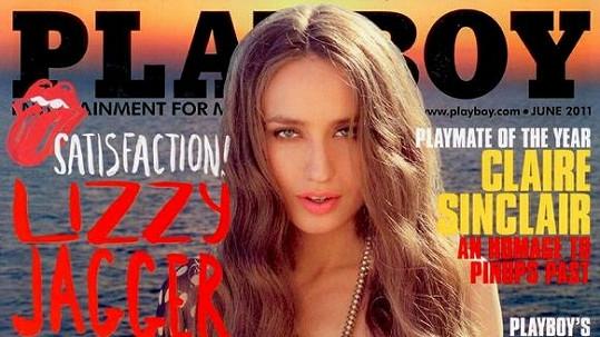 Elizabeth Jagger na obalu časopisu Playboy.