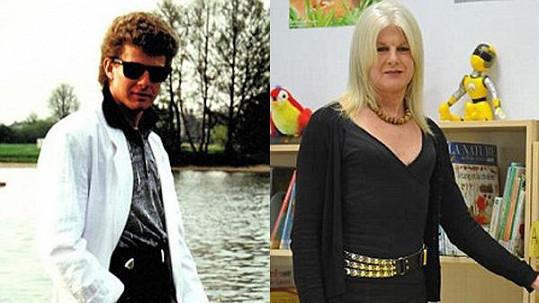 Chloe vlevo ještě jako Colin Oliver a vpravo v současnosti jako žena.