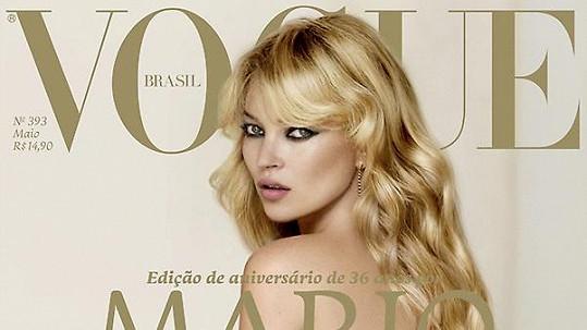 Kate Moss na přebalu brazilského Vogue