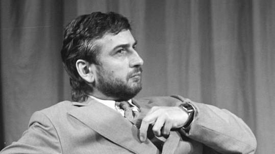 Miroslav Donutil v představení Divadla na provázku Koncert V. (1988)