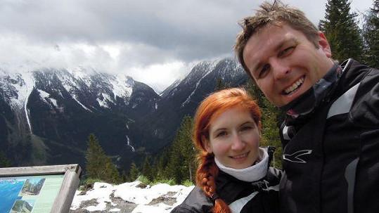 Tomáš Hauptvogel s přítelkyní