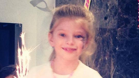 Dcera Andrey Verešové je blondýnka.