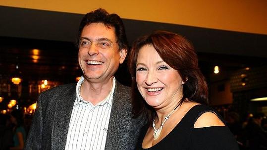 Zlata se svým prvním manželem Vadimem Petrovem.