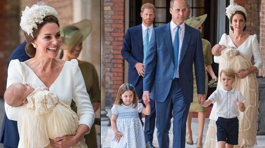 Vévoda a vévodkyně z Cambridge křtili své nejmladší dítě.