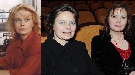 Ta proměna! Mirka Šafránková před dvaceti lety a nyní se sestrou Libuškou.