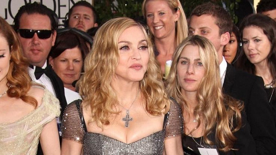 Madonna na předávání Zlatých glóbů.