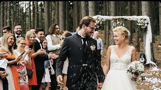 Patricie s novomanželem Tiborem