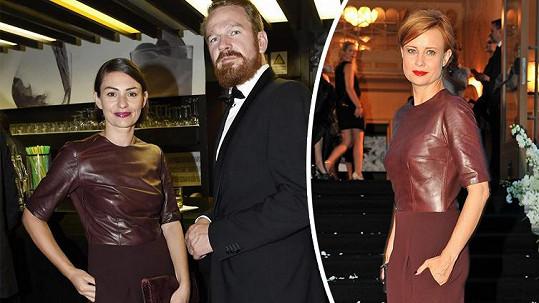 Partnerka Stanislava Majera oblékla stejné šaty jako Jitka Schneiderová.