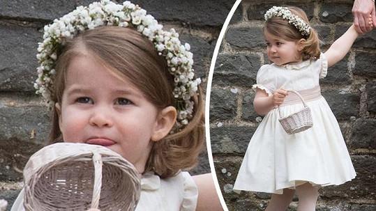 Princezna Charlotte šla za družičku.