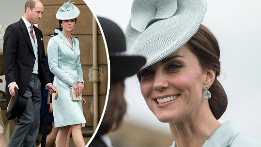 Vévodkyně byla ozdobou zahradní slavnosti.