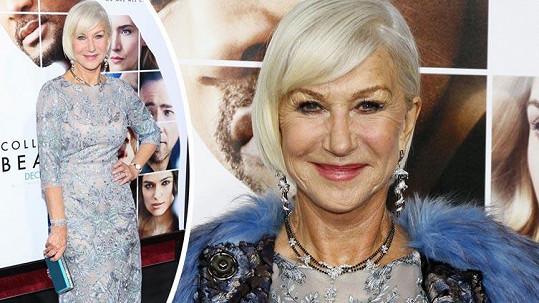 Helen Mirren je okouzlující i po sedmdesátce.