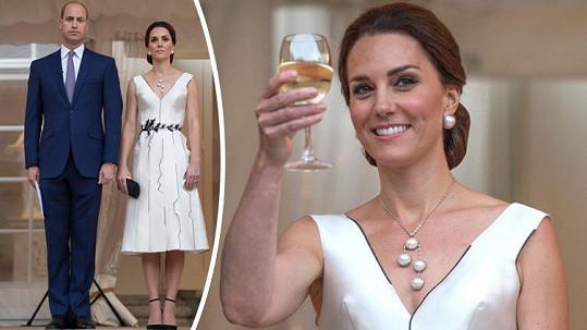 Kate oblékla šaty polské návrhářky.