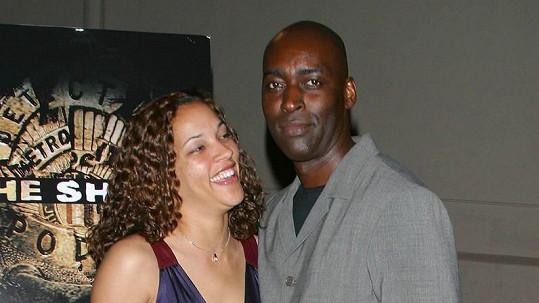 Michael Jace s manželkou April, jejíž život ukončil.