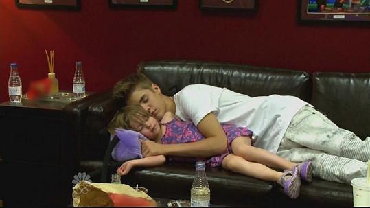 Justin Bieber se svou sestrou Jazmyn.