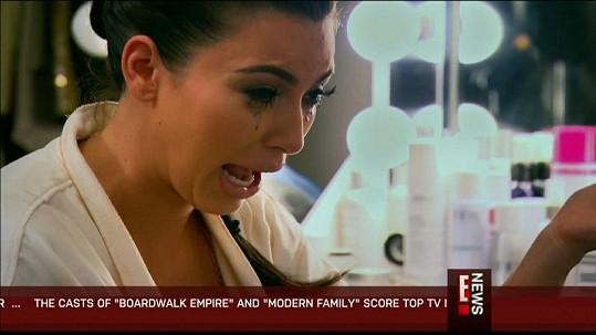 Kim projevila své emoce naplno.