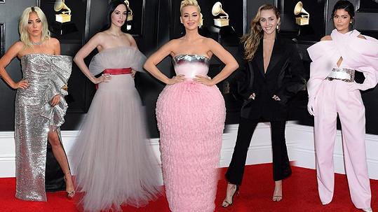 Pětice nej modelů na udílení cen Grammy