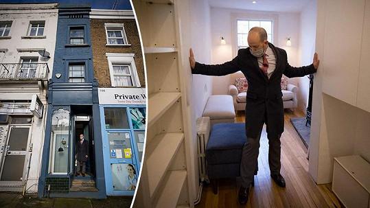 Nejužší dům v Londýně je na prodej.